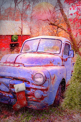 Photograph - Cool Blue Dodge At First Frost by Debra and Dave Vanderlaan