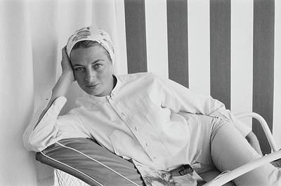 Photograph - Cool Capucine by Slim Aarons