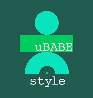 Digital Art - Cool Green Style by Ubabe Style