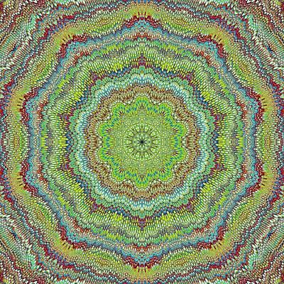 Digital Art - Cool Marbled Kaleidoscope by Cindy Boyd