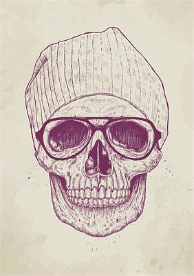Ink Drawing Drawing - Cool Skull by Balazs Solti