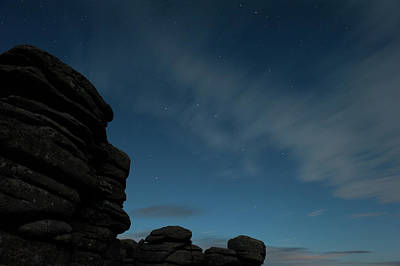 Photograph - Coombestone Tor Star Trails I by Helen Northcott