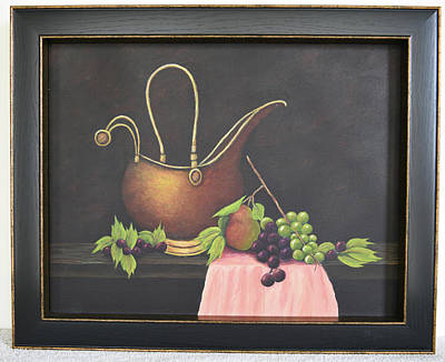 Painting - Copper Kettle by Gloria Johnson