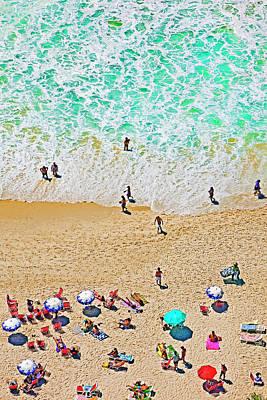 Photograph - Copacabana Beach, Sunbathers by John W Banagan