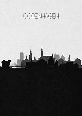 Digital Art - Copenhagen Cityscape Art by Inspirowl Design