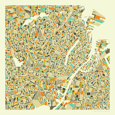 City Map Wall Art - Digital Art - Copenhagen Map 1 by Jazzberry Blue