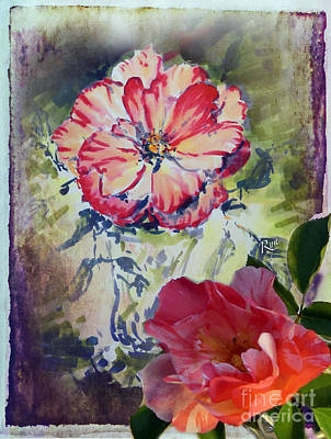 Mixed Media - Copic Marker Rose by Ryn Shell
