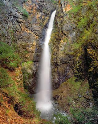 Photograph - Copper Creek Falls Warm Light by Leland D Howard