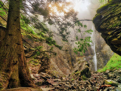 Photograph - Copper Falls Mist And Light by Leland D Howard