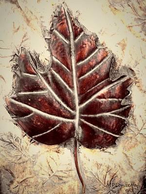 Mixed Media - Copper Leaf by Marian Palucci-Lonzetta