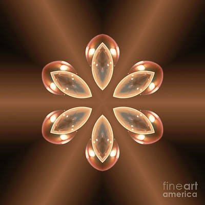 Digital Art - Copper Prism Flower  by Rachel Hannah
