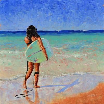 Lynee Sapere Wall Art - Painting - Coral Break by Lynee Sapere