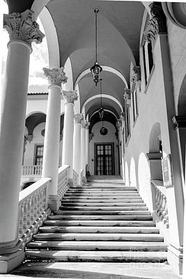 Photograph - Coral Gables Series 0185bw by Carlos Diaz