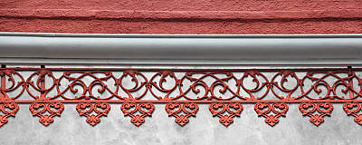 Photograph - Coral Pink Wrought Iron Trim by Debi Dalio