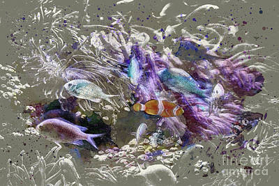 Vesna Antic Abstract Paintings Royalty Free Images - Coral Reef Royalty-Free Image by Anthony Ellis