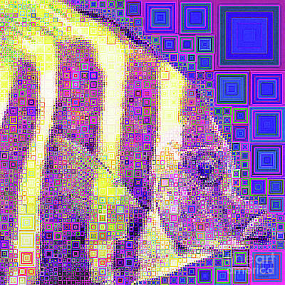 Photograph - Coral Reef Tropical Fish In Abstract Squares 20190202sq by Wingsdomain Art and Photography