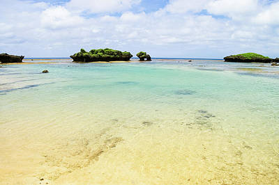Photograph - Coral Rocks And Clear Tropical Water by Ippei Naoi
