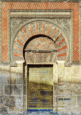 Photograph - Cordoba Mosque Gate 01 Door by Weston Westmoreland