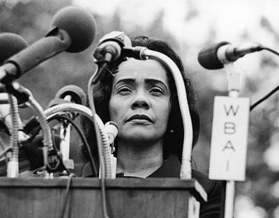 Photograph - Coretta Scott King by Hulton Archive