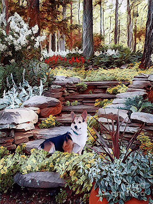 Digital Art - Corgi At Highgarden by Kathy Kelly