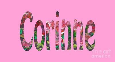 Digital Art - Corinne by Corinne Carroll