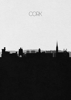 Digital Art - Cork Cityscape Art by Inspirowl Design