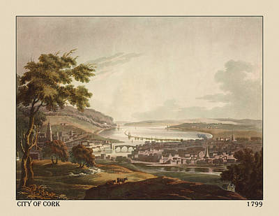 Photograph - Cork Ireland 1799 by Andrew Fare