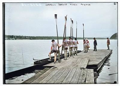 Angels And Cherubs - Cornell rowing crew 1910 colorized by Ahmet Asar by Ahmet Asar