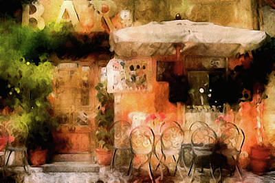 Mixed Media - Corner Cafe by Susan Maxwell Schmidt