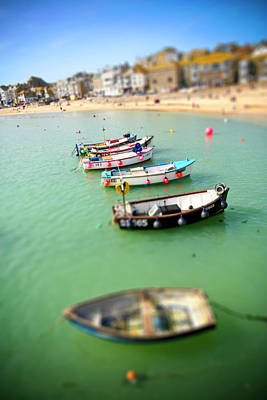 Photograph - Cornish Fishing Boats In Miniature by Olly Courtney