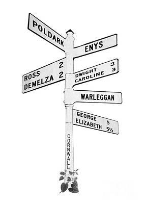 Photograph - Cornish Signpost Poldark by Terri Waters