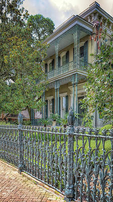 Photograph - Cornstalk Fence Mansion by Susan Rissi Tregoning