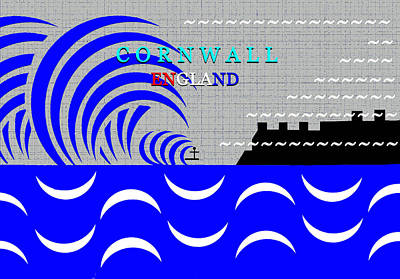 Royalty-Free and Rights-Managed Images - Cornwall England surfing art by David Lee Thompson