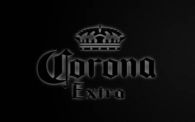Beer Royalty-Free and Rights-Managed Images - Corona Black Edition by Ricky Barnard