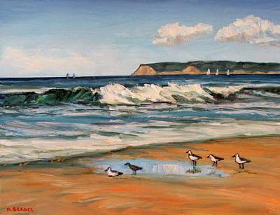27ca275ee0 Painting - Coronado Beach Surf And Gulls by Robert Gerdes