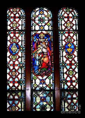 Photograph - Coronation Of The Blessed Virgin Mary Stained Glass Window Saint Marys Pennsylvania by Rose Santuci-Sofranko