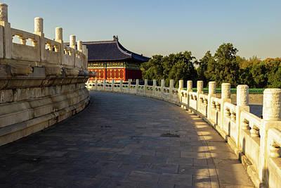 Photograph - Corridor, Temple Of Heaven, China by Aashish Vaidya