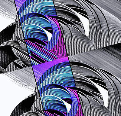 Digital Art - Corrugation Rainbow by Susan Maxwell Schmidt