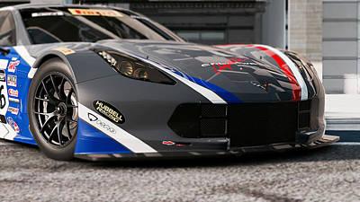 Photograph - Corvette C7r - 02 by Andrea Mazzocchetti