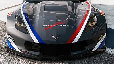 Photograph - Corvette C7r - 03  by Andrea Mazzocchetti