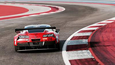 Photograph - Corvette C7r - 12 by Andrea Mazzocchetti