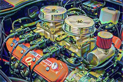 Digital Art - Corvette Engine by Gary Grayson