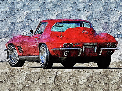 Painting - Corvette Stingray - 12 by Andrea Mazzocchetti