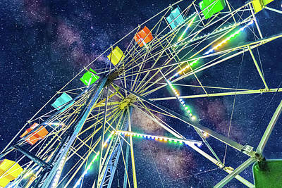 Photograph - Cosmic Ferris Wheel by Jonny D