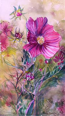 Cosmos Flowers Painting - Cosmos For Kristina by Mindy Newman