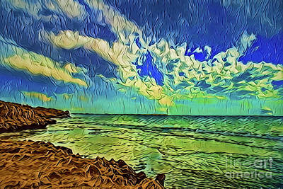 Painting - Costal Rain A18-28 by Ray Shrewsberry