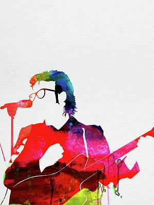 Rock Band Wall Art - Digital Art - Costello Watercolor by Naxart Studio