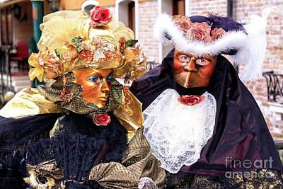 Photograph - Costume Traditions At The Carnevale Di Venezia by John Rizzuto