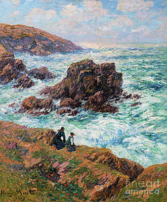 Painting - Cote De Clohars, Finistere, 1908 by Henry Moret