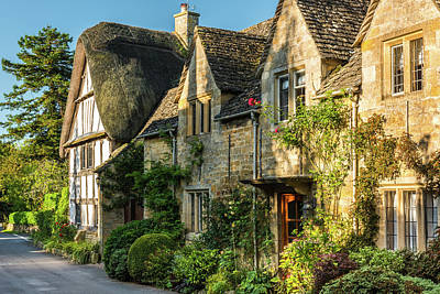 Cotswold Cottages, Stanton, Gloucestershire Art Print by David Ross